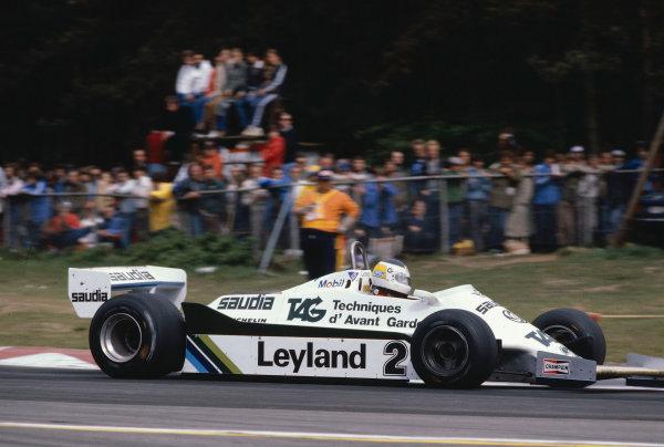 1981 Belgian Grand Prix.Zolder, Belgium.15-17 May 1981.Carlos Reutemann (Williams FW07C Ford) 1st position.Ref-81 BEL 11.World Copyright - LAT Photographic