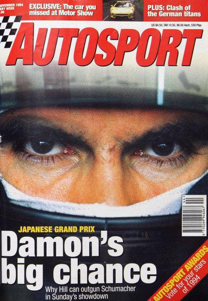 Cover of Autosport magazine, 3rd November 1994