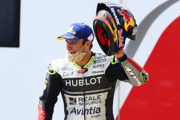 Podium: third place Johann Zarco, Avintia Racing.