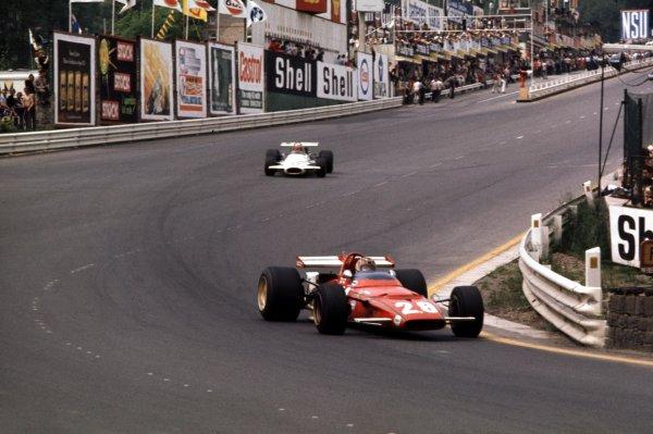 1970 Belgian Grand Prix.Spa-Francorchamps, Belgium.5-7 June 1970.Ignazio Giunti (Ferrari 312B) 4th position.Ref-70 BEL 09.World Copyright - LAT Photographic