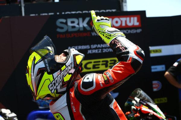 Alvaro Bautista, Aruba.it Racing-Ducati Team points skywards in memory of his grandfather