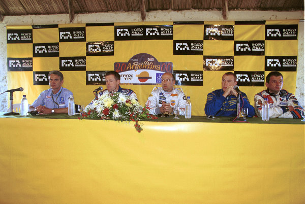 Pre-event press conferenceArgentina Rally 2000.Photo:McKlein/LAT