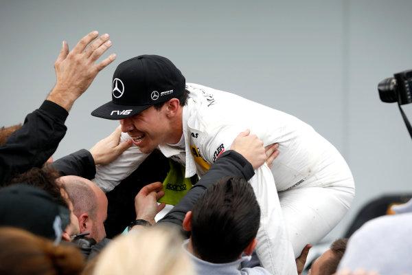 2017 DTM Round 7  Nürburgring, Germany  Sunday 10 September 2017. Race winner Robert Wickens, Mercedes-AMG Team HWA, Mercedes-AMG C63 DTM  World Copyright: Alexander Trienitz/LAT Images ref: Digital Image 2017-DTM-Nrbg-AT1-2665