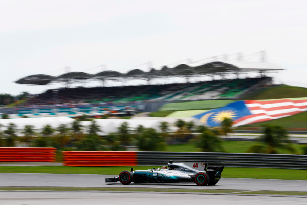 Sepang International Circuit, Sepang, Malaysia. Saturday 30 September 2017. Lewis Hamilton, Mercedes F1 W08 EQ Power+.  World Copyright: Steven Tee/LAT Images  ref: Digital Image _R3I3986