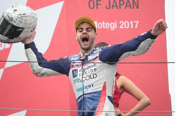 2017 Moto3 Championship - Round 15 Motegi, Japan. Sunday 15 October 2017 Podium: race winner Romano Fenati, Snipers Team World Copyright: Gold and Goose / LAT Images ref: Digital Image 22766