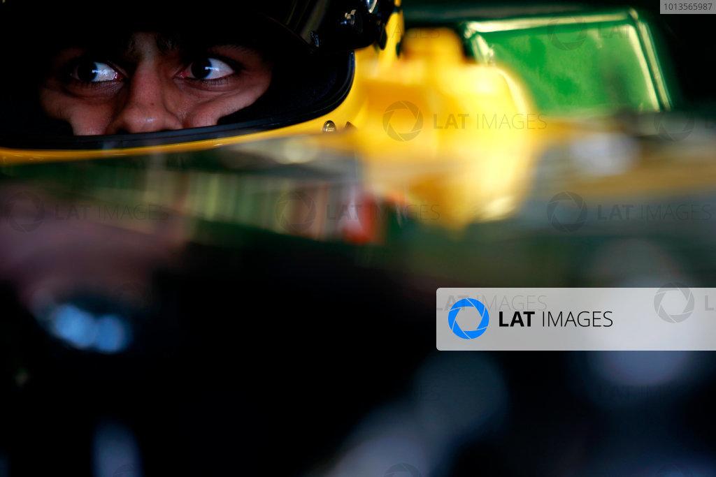 Albert Park, Melbourne, Australia24th March 2011.Karun Chandok, Team Lotus Renault T128.World Copyright: Charles Coates/LAT Photographicref: Digital Image _X5J6570