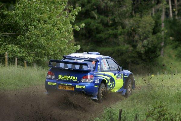 2006 FIA World Rally Champs. Round fifteenNew Zealand Rally.16th-19th November 2006.Chris Atkinson, Subaru, action.World Copyright: McKlein/LAT