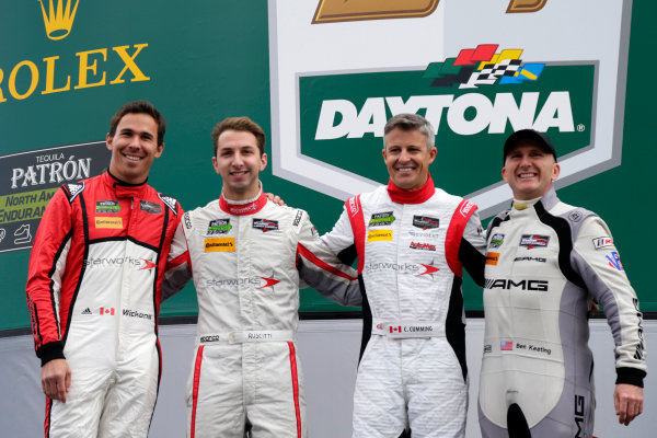 2017 Rolex 24 Hours. Daytona, Florida, USA Saturday 28 January 2017. #8 Starworks Motorsports ORECA FLM09: Ben Keating, Robert Wickens, Chris Cumming, John Falb, Remo Ruscitti World Copyright: Alexander Trienitz/LAT Images ref: Digital Image 2017-24h-Daytona-AT1-3124
