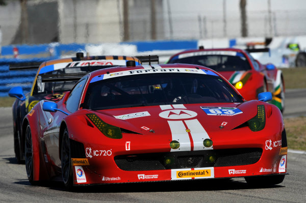 12-15 March, 2014,  Sebring, Florida USA #63, Ferrari, 458 Italia, GTD, Alessandro Balzan, Jeff Westphal, Stefan Johansson, Lorenzo Case ©2014 Scott R LePage  LAT Photo USA