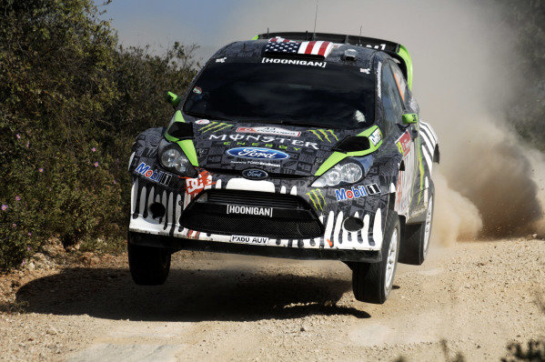 Ken Block (USA), Ford Fiesta RS WRC, on the shakedown stage before his big accident. FIA World Rally Championship, Rd3, Vodafone Rally de Portugal, Faro, Portugal. Shakedown, 23 March 2011.