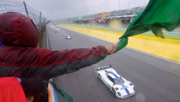 27-29 March, 2012, Homestead, Florida USA The green flag waves to start the race. (c)2012, R.D. Ethan LAT Photo USA