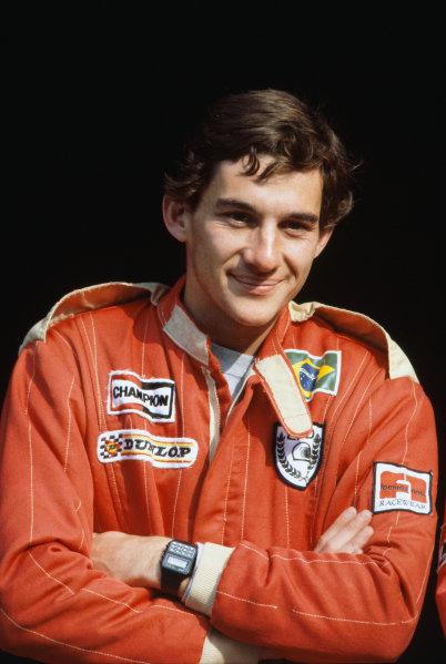 1982 EFDA Euroseries FF2000 Championship. Hockenheim, Germany. 7th - 8th August 1982. Rd 6. Ayrton Senna (Van Diemen- Nelson RF82), 1st position, portrait.  World Copyright: LAT Photographic.