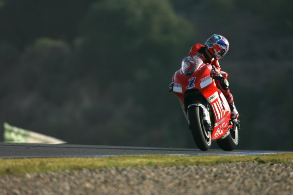 2008 Moto GP ChampionshipJerez, Spain. 28th - 30th March 2008.Reigning World Champion Casey Stoner Ducati Marlboro Team runs off track and struggles to 11th place his worst ever finish for Ducati .World Copyright: Martin Heath/LAT Photographicref: Digital Image Only