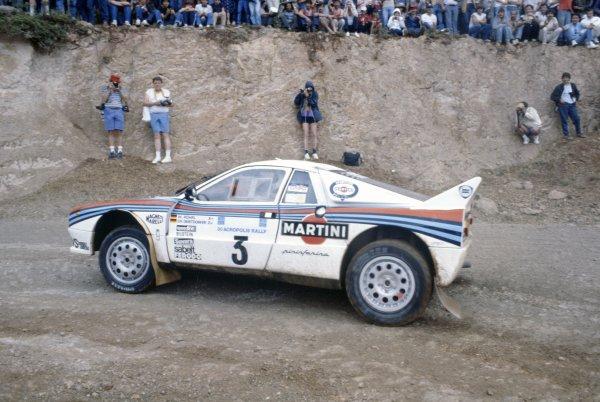 1983 World Rally Championship.Acropolis Rally, Greece. 30 May-2 June 1983.Walter Rohrl/Christian Geistdorfer (Lancia Rally 037), 1st position.World Copyright: LAT PhotographicRef: 35mm transparency 83RALLY06