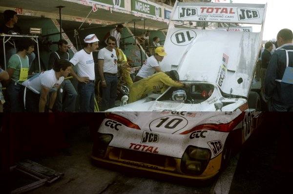 1976 Le Mans 24 hours. Le Mans, France. 12-13 June 1976. Jean-Louis Lafosse/Francois Migault (Mirage GR8-Ford), 2nd position, in the pits. Pitstop, action.  World Copyright: LAT Photographic Ref: 76LM05