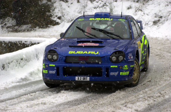 2001 World Rally Championship. Monte Carlo Rally,  Monaco. 18th -21st January 2001. Rd 1. Richard Burns during the snowy shakedown. World Copyright: Ralph Hardwick/ LAT Photographic. Ref: Burns1
