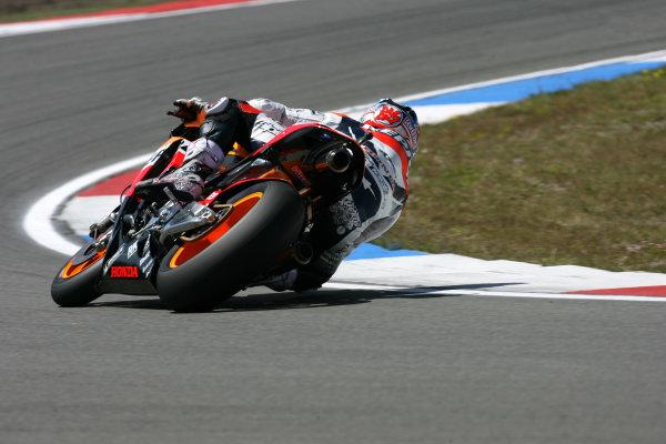 TT Circuit Assen, Netherlands. 25th June 2008Free Practice.Nicky Hayden Repsol Honda Team.World Copyright: Martin Heath / LAT Photographicref: Digital Image Only
