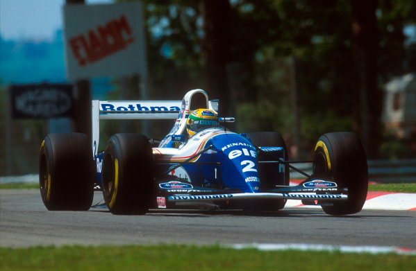 Imola, Italy.29/4-1/5 1994.Ayrton Senna (Williams FW16 Renault). He was tradgically killed after an accident on the start of lap 7.Ref-94 SM 45.World Copyright - LAT Photographic