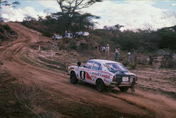 1976 World Rally Championship. Safari Rally, Kenya. 15-19 April 1976. Joginder Singh/David Doig (Mitsubishi Colt Lancer GSR 1600), 1st position. World Copyright: LAT Photographic Ref: 35mm transparency 76RALLY10  www.latphoto.co.uk +44(0)20 8267 3000
