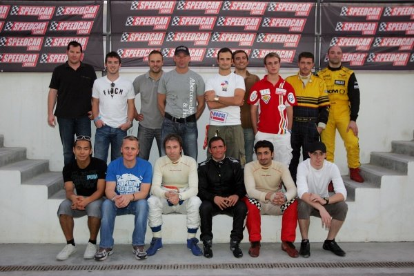 The driver lineup for the Speedcar test days: