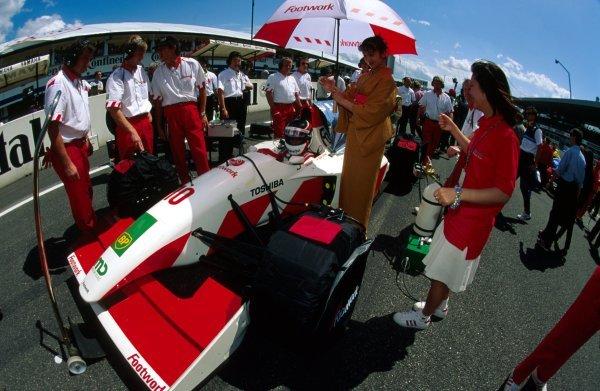 Aguri Suzuki (JPN) Footwork Mugen-Honda FA14.German Grand Prix, Hockenheim, Germany, 25 July 1993.DIGITAL IMAGE