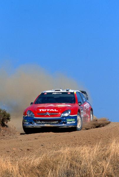2003 World Rally ChampionshipRally of Cyprus, Cyprus. 19th - 22nd June 2003.Colin McRae/Derek Ringer (Citroen Xsara), action.World Copyright: McKlein/LAT Photographicref: 03WRCCyprus08