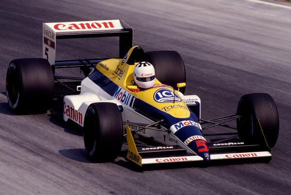 1988 Italian Grand Prix.Monza, Italy.9-11 September 1988.Jean-Louis Schlesser (Williams FW12 Judd) 11th position.Ref-88 ITA 30.World Copyright - LAT Photographic
