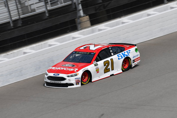 Monster Energy NASCAR Cup Series Pure Michigan 400 Michigan International Speedway, Brooklyn, MI USA Friday 11 August 2017 Ryan Blaney, Wood Brothers Racing, Motorcraft / SKF Ford Fusion World Copyright: Logan Whitton LAT Images