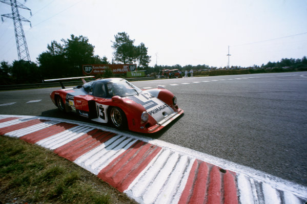 Le Mans, France. 15th -16th  June 1985.Yves Courage/Alain de Cadenet/Jean-Franois Yvon (Cougar C12 Porsche), 20th position, action. World Copyright: LAT Photographic.Ref:  85LM34