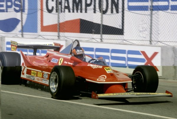 1980 United States Grand Prix West.Long Beach, California, USA. 28-30 March 1980.Gilles Villeneuve (Ferrari 312T5), retired.World Copyright: LAT PhotographicRef: 35mm transparency 80LB13