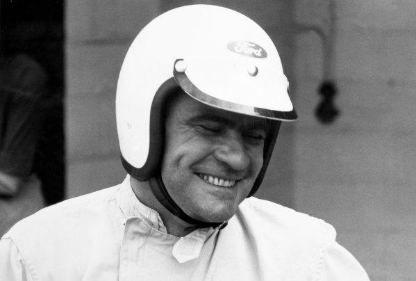 1966 Belgian Grand Prix. Spa-Francorchamps, Belgium. 12 June 1966. Guy Ligier, Cooper T81-Maserati, not classified, portrait, helmet. World Copyright: LAT Photographic Ref: Motor b&w print