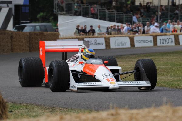 Goodwood, England3rd/4th/5th July 2009. Bruno Senna McLaren Honda MP4/4 World Copyright: Jeff Bloxham/LAT PhotographicRef: Digital Image Only