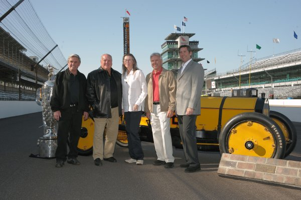 4-25 May 2008, Indianapolis, Indiana, USA.Four time winners, Al Unser, AJ Foyt and Rick Mears with Mary Hulman George and Tony George.2008© Dan R. Boyd. USA LAT Photographic
