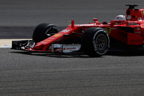 Bahrain International Circuit, Sakhir, Bahrain.  Tuesday 18 April 2017 Antonio Giovinazzi, Ferrari SF70H.  World Copyright: Glenn Dunbar/LAT Images ref: Digital Image _X4I1905