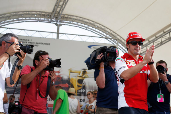 Hockenheimring, Hockenheim, Germany. Saturday 19 July 2014. Fernando Alonso, Ferrari. World Copyright: Charles Coates/LAT Photographic. ref: Digital Image _J5R4465