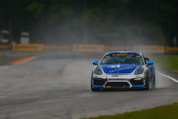IMSA Continental Tire SportsCar Challenge Road America 120 Road America, Elkhart Lake, WI USA Friday 4 August 2017 35, Porsche, Porsche Cayman GT4, GS, Russell Ward, Damien Faulkner World Copyright: Jake Galstad LAT Images
