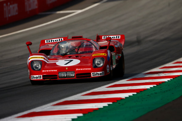 Red Bull Ring, Spielberg, Austria. Saturday 08 July 2017. Jean Alesi demonstrates a Ferrari 512. World Copyright: Andy Hone/LAT Images ref: Digital Image _ONY1897