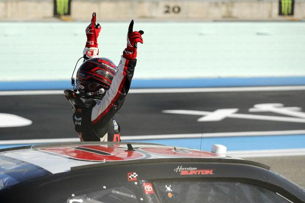 Race winner Harrison Burton, Joe Gibbs Racing Toyota DEX Imaging, Copyright: Michael Reaves/Getty Images.