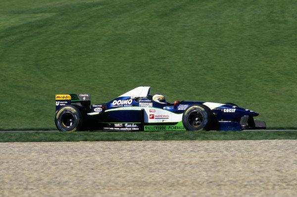 1996 Spanish Grand Prix.Catalunya, Barcelona, Spain.31/5-2/6 1996.Giancarlo Fisichella (Minardi M195B Ford).World Copyright - LAT Photographic