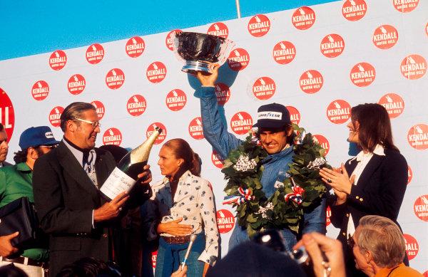 1974 United States Grand Prix.Watkins Glen, New York, USA.4-6 October 1974.Carlos Reutemann (Brabham Ford)1st position on the podium. Ref-74 USA 06.World Copyright - LAT Photographic