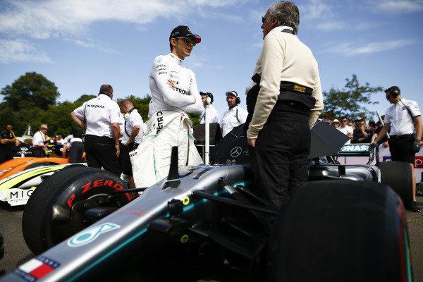 Esteban Ocon, Mercedes-AMG F1 W10 EQ Power+ in the holding area