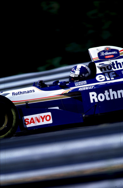 1995 Hungarian Grand Prix.Hungaroring, Budapest, Hungary.11-13 August 1995.David Coulthard (Williams FW17 Renault) 2nd position.World Copyright - LAT Photographic