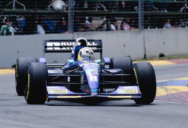 1994 Australian Grand Prix.Adelaide, Australia. 11-13 November 1994.Domenico Schiattarella (Simtek S491 Ford).Ref-94 AUS 66.World Copyright - LAT Photographic