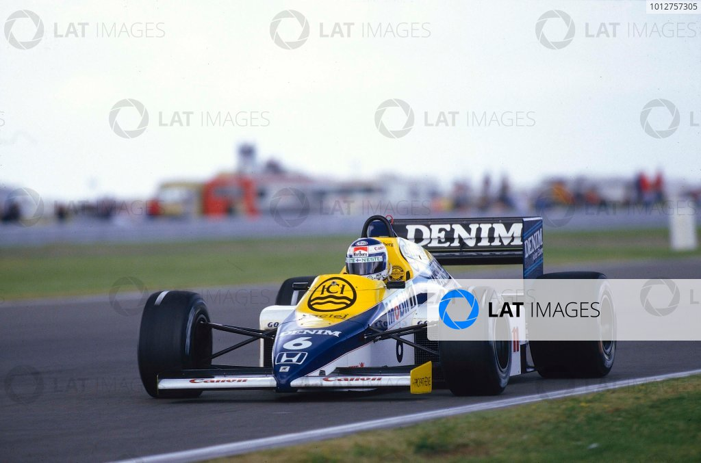 1985 British Grand Prix. Silverstone, England. 19-21 July 1985. Keke Rosberg (Williams FW10 Honda) who's pole position time was the fastest ever qualifying lap. Ref-85 GB 12. World Copyright - LAT Photographic