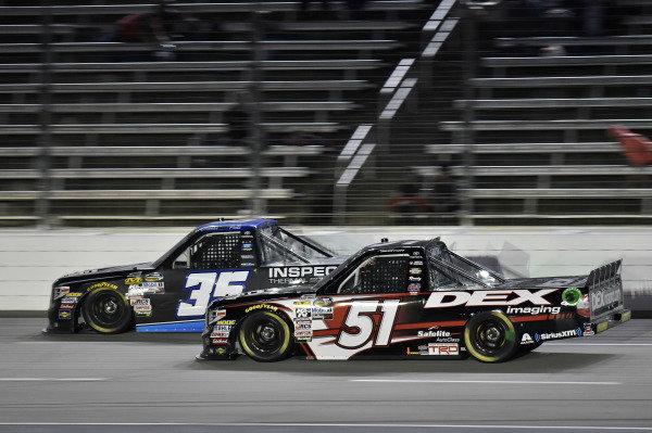 #51: Harrison Burton, Kyle Busch Motorsports, Toyota Tundra DEX Imaging and #35: Brennan Poole, NextGen Motorsports, Toyota Tundra Inspectra Thermal Solutions