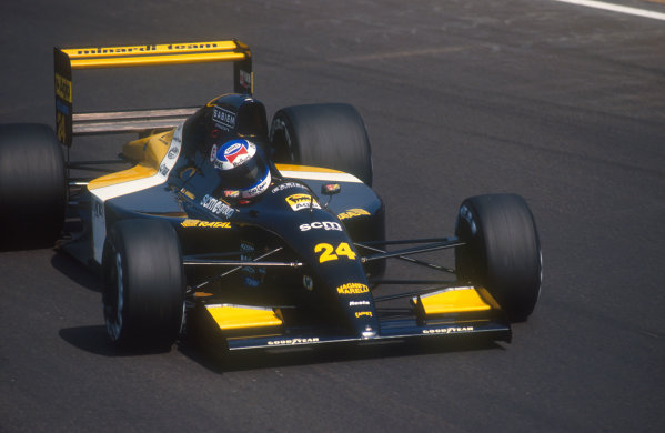 1991 Italian Grand Prix.Monza, Italy.6-8 September 1991.Gianni Morbidelli (Minardi M191 Ferrari) 9th position.Ref-91 ITA 17.World Copyright - LAT Photographic