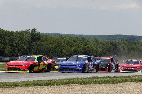 #8: Miguel Paludo, JR Motorsports, Chevrolet Camaro BRANDT and #92: Josh Williams, DGM Racing, Chevrolet Camaro Alloy Employer Services