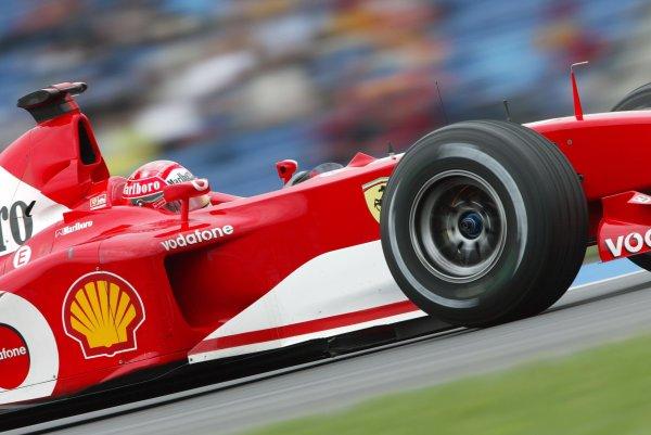 2002 German Grand Prix - PracticeHockenheim, Germany. 26th July 2002.Michael Schumacher (Ferrari F2002).World Copyright: Steve Etherington/LATref: Digital Image Only