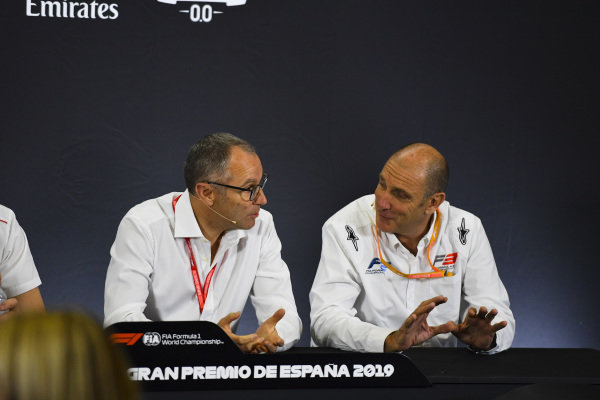 Stefano Domenicali and Bruno Michel in Press Conference for new F2 tyres