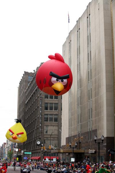 26  May, 2013, Indianapolis, Indiana,  USA Angry Birds made a parade appearance.(c)2013, Maria W. GradyLAT Photo USA